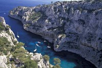 Limestone Cliffs,Provence, France Fine-Art Print