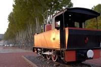 Train Display along Riverbank Fine-Art Print