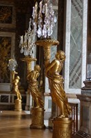 Hall of Mirrors and Gold Statues, Versailles, France Fine-Art Print