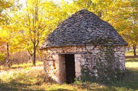 Country Hut of Stone (Borie),  France Fine-Art Print