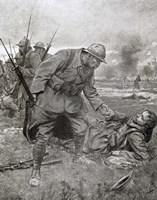 World War I, Battle of Champagne, France Fine-Art Print