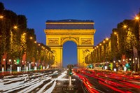 Champs Elysee with Arc de Triomphe at Twilight Fine-Art Print