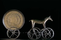 Solar Disk with Chariot and Horse Replica Fine-Art Print
