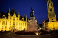 House of Governor and Belfort Church, Belgium Fine-Art Print