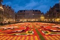 Night View of the Grand Place, Belgium Fine-Art Print