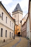 Old Town Buildings in Tabor, Czech Republic Fine-Art Print