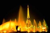 Fountain at the Eiffel Tower, Paris, France Fine-Art Print