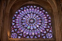 Interior of Notre Dame Cathedral, Paris, France Fine-Art Print