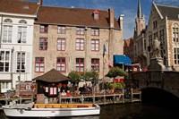 Canal Cafe, Bruges, Belgium Fine-Art Print