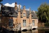 Canal Building, Bruges, Belgium Fine-Art Print