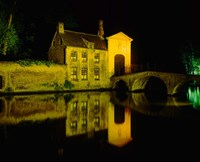 The Beguinage at Night, Bruges, Belgium Fine-Art Print