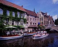 Tourist Boats, Bruges, Belgium Fine-Art Print