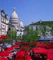 Place Du Tertre, Montmartre, Paris, France Fine-Art Print