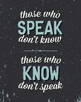 Those Who Speak Fine-Art Print