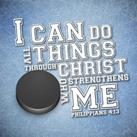 I Can Do All Sports - Hockey Framed Print