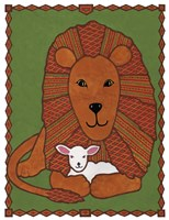 Lamb and Lion Mudcloth Fine-Art Print