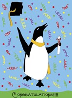 Penguin Graduation Fine-Art Print