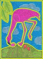 Large Flamingo Framed Print