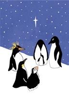 3 Wise Penguins Fine-Art Print
