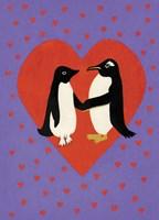 Valentine Penguins Fine-Art Print