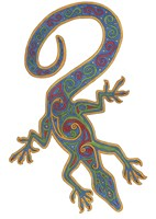 Lizard Trispiral Fine-Art Print