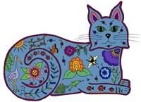 Cat Chintz Fine-Art Print