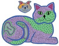 Calico Lying Cat Fine-Art Print