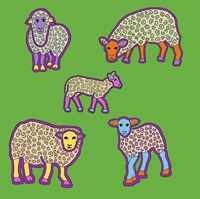 5 Sheep Fine-Art Print
