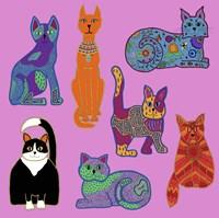 7 Cats Fine-Art Print