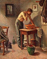 Man Washing Himself, 1886 Fine-Art Print