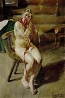 Nude Braiding Her Hair, 1907 Fine-Art Print