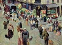 La Rue Des Abesses, Paris Fine-Art Print