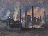 Factories Near Charleroi, 1897 Fine-Art Print