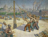 The Pile-drivers, Seine Quai, Billancourt, 1902-1903 Fine-Art Print