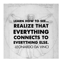 Learn How to See -Da Vinci Quote Fine-Art Print