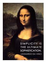 Simplicity is the Ultimate Sophistication -Leonardo Da Vinci Fine-Art Print