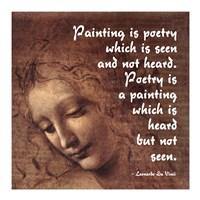 Painting is Poetry -Da Vinci Quote 2 Fine-Art Print