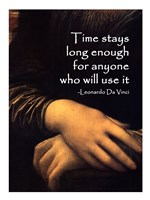 Time Stays -Da Vinci Quote Fine-Art Print