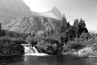 Waterfall And Cliffs 6 Fine-Art Print