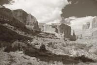 Sepia Cliffs 2 Fine-Art Print