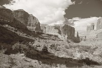 Sepia Cliffs 2 Fine-Art Print
