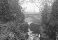 Bridge Over Rocks Black And White Fine-Art Print