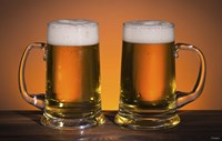 Beer Mug Duo On Bar Fine-Art Print