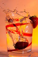 Strawberry Splash In Red Swirl Glass II Fine-Art Print