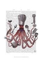 Octopus Fabulous French Chef Fine-Art Print