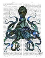 Fishy Blue Octopus Fine-Art Print