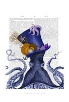 Octopus Nautical Hat Fine-Art Print