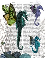 Seahorse Trio With Wings Fine-Art Print