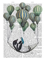 Penguin in Hammock Balloon Fine-Art Print