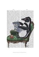 Penguin Reading Newspaper Fine-Art Print